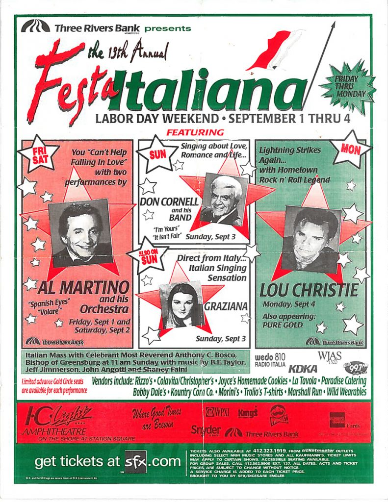 13th Annual Festa Italiana – Pittsburgh, PA