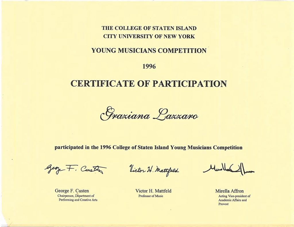 CSI Young Musicians Competition – Staten Island, NY