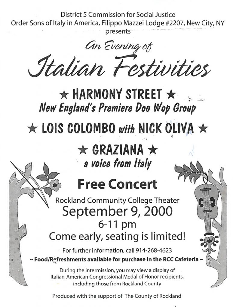 Sons of Italy Filippo Mazzei Lodge #2207 Italian Festivities – Suffern, NY