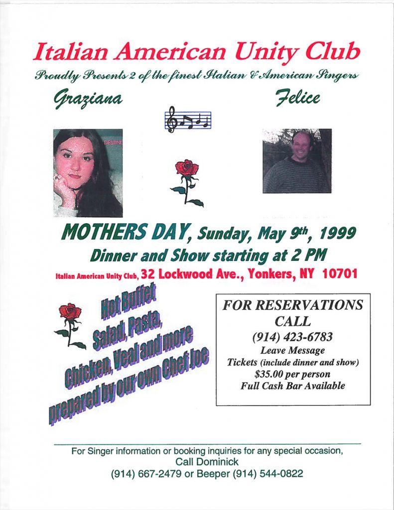 Italian American Unity Club – Yonkers, NY