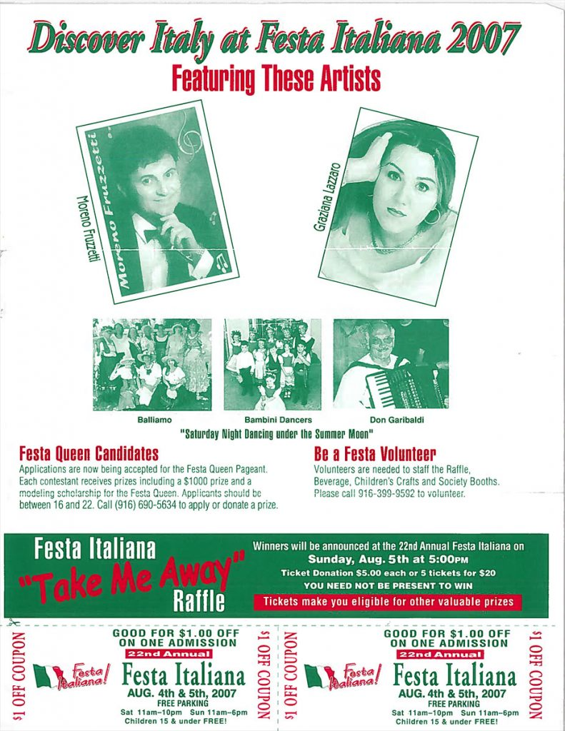 22nd Annual Festa Italiana – Sacramento, CA