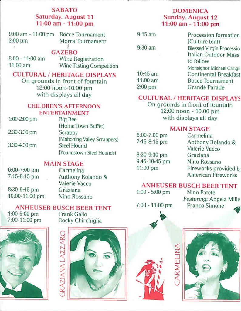 23rd Annual Warren Italian-American Heritage Festival – Warren, OH