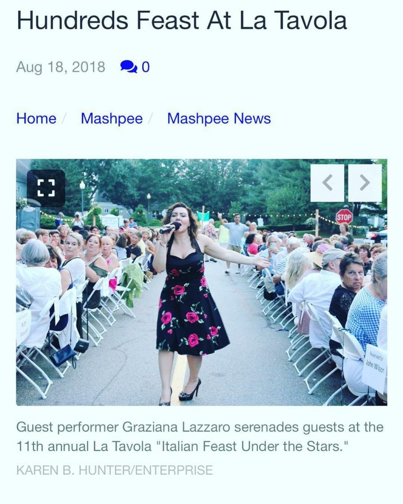 "11th Annual La Tavola ""Italian Feast Under the Stars"" – Mashpee, MA"