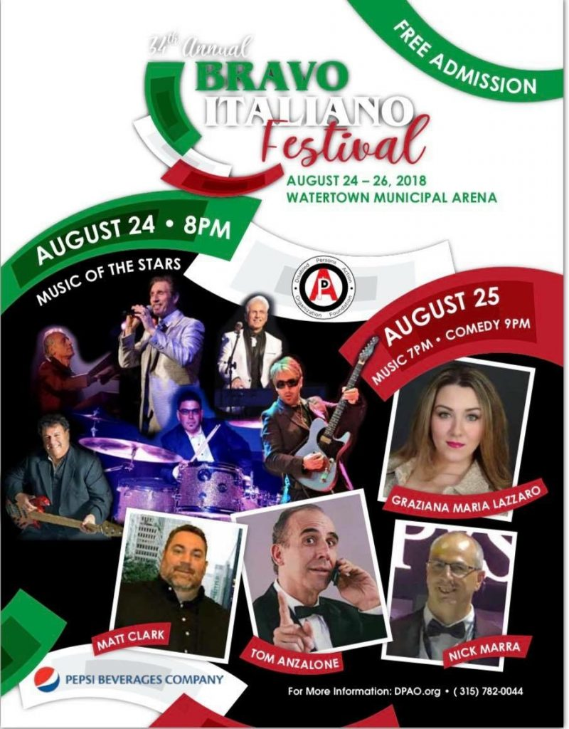 34th Annual Bravo Italiano Festival – Watertown, NY