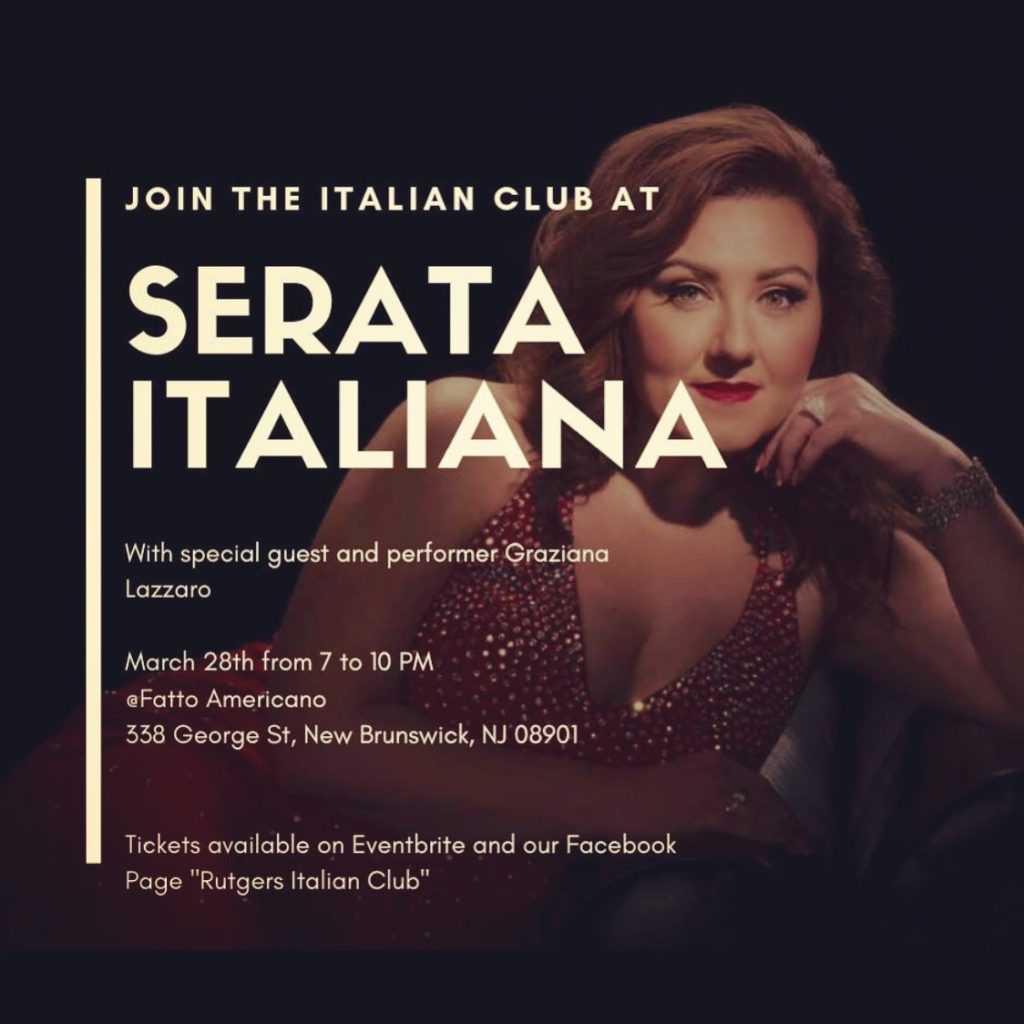 Rutgers University Italian Club Serata Italiana – New Brunswick, NJ