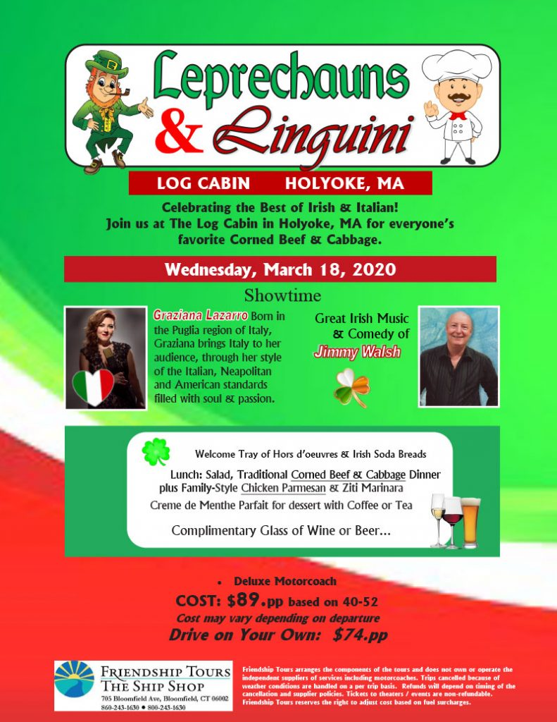 Leprechauns & Linguini Dinner Show – Holyoke, MA