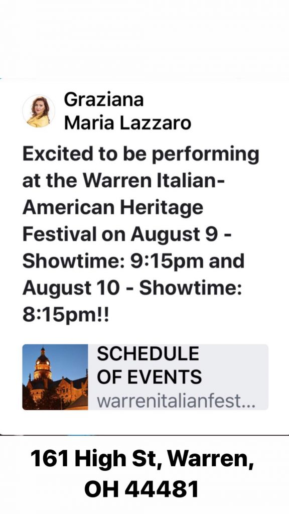 35th Annual Warren Italian-American Heritage Festival – Warren, OH