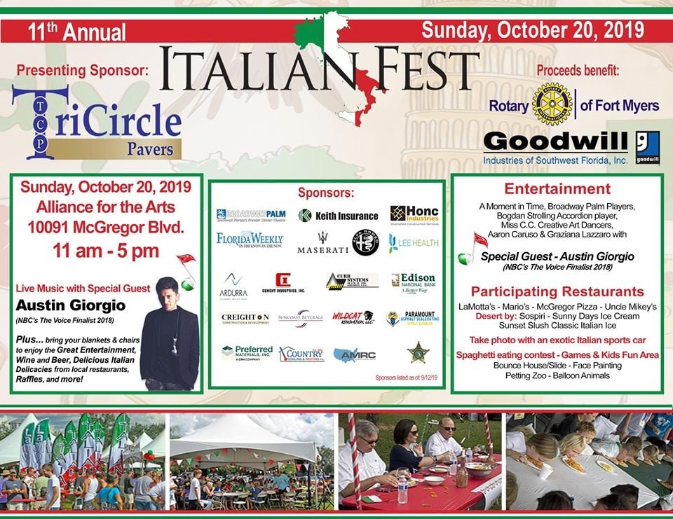 11th Annual Italian Fest Rotary Club of Fort Myers – Fort Myers, FL