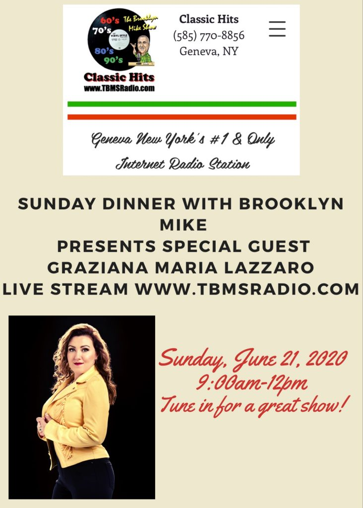 TBMSRadio Interview Sunday Dinner with Brooklyn Mike – Geneva, NY